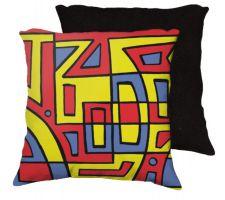Buy Manard 18x18 Yellow Red Blue Black Back Cushion Case Throw Pillow Cover 631 Art