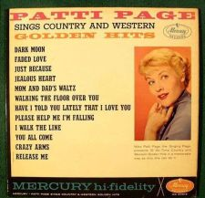 Buy PATTI PAGE ~ Sings Country and Western GOLDEN HITS 1961 C&W LP