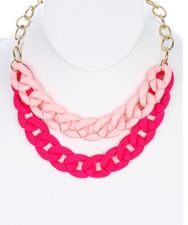 Buy Pink Chunky Necklace