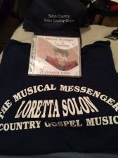 Buy Loretta Solon, The Musical Messenger Promotional Dark Blue T-Shirt Size Large!