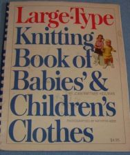 Buy Large Type Knitting Book of Babies & Children's Clothes Book
