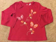 Buy NWT Gymboree Butterfly Girl Pink Embroidered Long Sleeve Shirt Size 4t