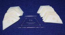 "Buy Mylar 2"" Half -Hexagon- 51 Piece Set - Quilting / Sewing Templates -"