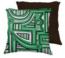 Buy Trevor 18x18 Green White Brown Back Cushion Case Throw Pillow Cover 631 Art