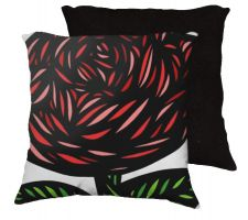 Buy Colflesh 18x18 Red Green Black White Pillow Flowers Floral Botanical Cover Cushion Ca
