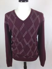 Buy Jos A Bank Sweater XL Mens Red Wool Argyle