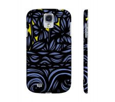 Buy Bacote Yellow Blue Flowers Samsung Galaxy S4 Phone Case