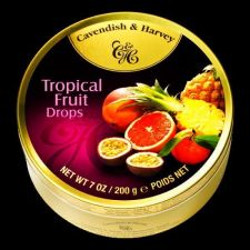 Buy Collectible Cavendish & Harvey Tropical Fruit Drops Candy - Empty Tin