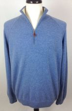 Buy Neiman Marcus Sweater Mens XL Blue Wool Long Sleeve