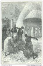 Buy ZANZIBAR (AFRICA) - OLD PRISONER - engraving from 1878