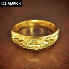 Buy New 24k Thai Baht Yellow Gold GP Wedding Engagement Ring Size 7.5 Jewelry Gift 1