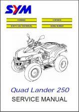 Buy SYM Quad Lander 250 ATV Service Repair Workshop Manual CD - Sanyang Quadlander