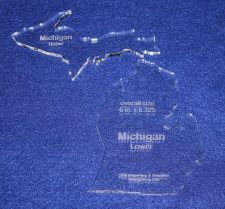 """Buy State of Michigan 6""""x6.325"""" ~ 1/4"""" Quilt Template- Acrylic - Long Arm/ Sew"""