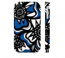 Buy Daltorio Blue White Black Iphone 4/4S Apple Phone Case Flowers Botanical