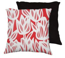 Buy Zihal 18x18 Red White Pillow Flowers Floral Botanical Cover Cushion Case Throw Pillow