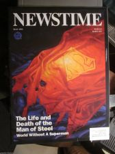 Buy NEWSTIME The Death of Superman May 1993 1st print features & his funeral
