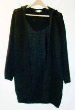 Buy EUC Women's, sz.S, lauren hansen, black, hooded, long sleeve knit sweater
