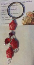 Buy turtle red handmade keyring