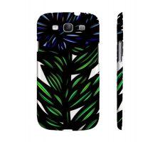 Buy Shue Blue Green Flowers Samsung Galaxy S3 Phone Case