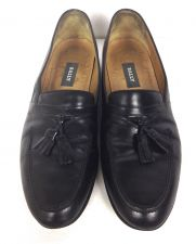 Buy Bally Shoes Mens 9.5 B Black Leather Loafers