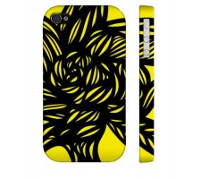 Buy Bontemps Yellow Black Iphone 4/4S Apple Phone Case Flowers Botanical