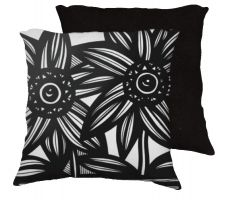 Buy Swecker 18x18 Black White Pillow Flowers Floral Botanical Cover Cushion Case Throw Pi