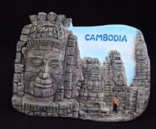 Buy 3D SCULPTURE FRIDGE MAGNET MEMORIAL PLACE BAYON TEMPLE CAMBODIA COLLECTIBLE GIFT