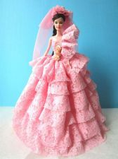 Buy PINK WEDDING GOWN PARTY VINTAGE STYLE DRESS UP COSTUME FOR BARBIE DOLLS 12""