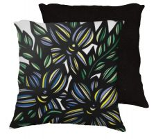 Buy Garlett 18x18 Blue Yellow Black Pillow Flowers Floral Botanical Cover Cushion Case Th