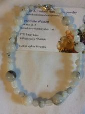 Buy Quartz and moonstone handmade anklet sizing available