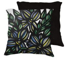Buy 22x22 Chavaria Blue Yellow White Pillow Flowers Floral Botanical Cover Cushion Case T