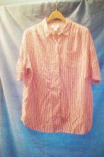Buy EUC women's sz.1X MAINSTREET BLUES red/white vertically striped shirt.