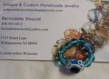 Buy evil eye aqua blue glass handmade ring can be made in any size