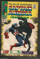 Buy Black Panther TALES OF SUSPENSE #98 VF-/+ Captain America & Iron Man HIGH GRADE