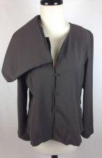 Buy Eileen Fisher Jacket L Womens Brown Wool Long Sleeve