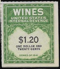 Buy US Internal Revenue $1.20 Wine Tax Stamp RE146 Series 1941 Mint NH