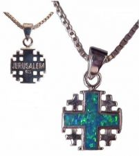 Buy Jerusalem Cross with Opal Stones