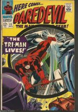 Buy DAREDEVIL #22 Marvel Comics 1st Print & series Stan Lee / Colan TRI-MAN