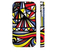 Buy Musslewhite Yellow Red Blue Iphone 4/4S Phone Case