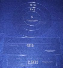 """Buy Common Size Pillow/Fabric Acrylic Templates -5 Piece Round Set -Sew/Quilt 1/8"""""""