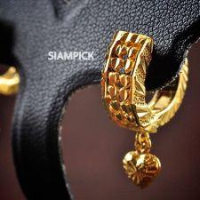 Buy Thai 22k 24k Yellow Gold Baht GP Drop Huggie Earrings Heart Dangle Jewelry E003