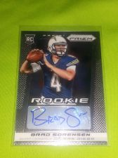 Buy NFL BRAD SORENSEN CHARGERS 2013 PANINI PRIZM AUTOGRAPHED RC / MNT