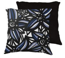Buy 22x22 Schultze Blue White Black Pillow Flowers Floral Botanical Cover Cushion Case Th