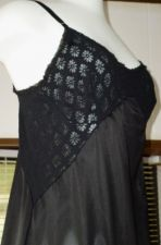 Buy Vintage Warners Sheer Black Stretch Lace Top Nylon Full Slip Negligee Gown M