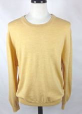 Buy Faconnable Sweater Mens XL Yellow Wool Long Sleeve