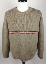 Buy J Crew Sweater L Mens Brown Wool Long Sleeve