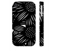 Buy Mahurin Black White Flowers Floral Botanical Iphone 4/4S Phone Case