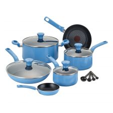 Buy NEW T-fal Excite Cookware Set Blue 14-piece Non-stick Oven Safe
