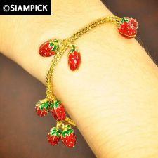 Buy 22k 24k Thai Baht Yellow Gold GP Franco Chain Bracelet Bangle Women Jewelry B146