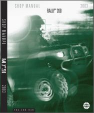 Buy 2003 Can-Am Rally 200 ATV Service Repair Manual CD -- BRP Bombardier